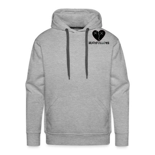 Heart Shape DEATHFOLLOWS LOGO - Men's Premium Hoodie