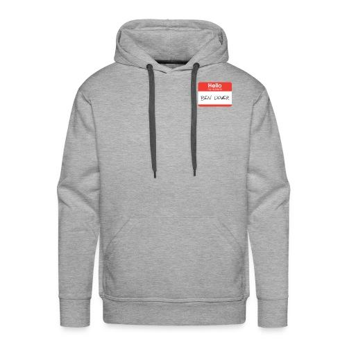 Ben Dover Name Tag - Men's Premium Hoodie