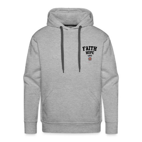 Faith love hope - Men's Premium Hoodie