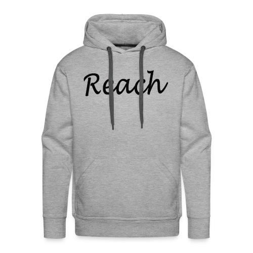 Classic Reach logo black - Men's Premium Hoodie