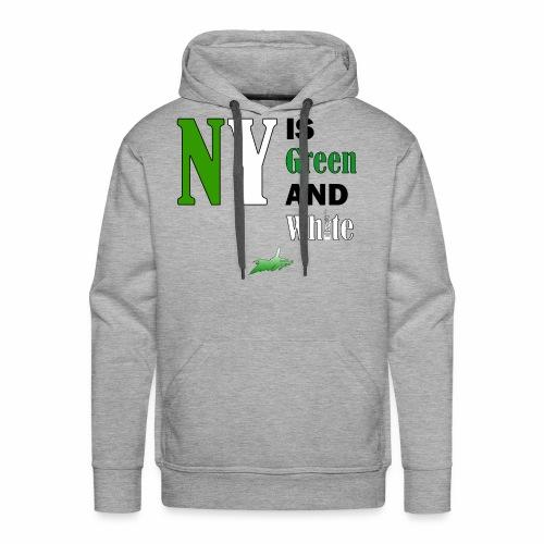 NY Green and White - Men's Premium Hoodie