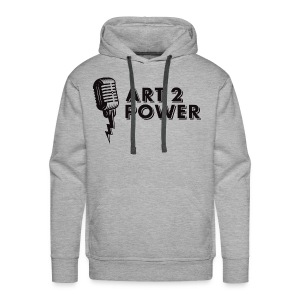 ART 2 POWER - black logo - Men's Premium Hoodie
