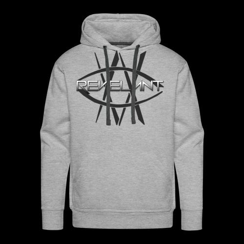 Revelant eye and text logo, black. - Men's Premium Hoodie