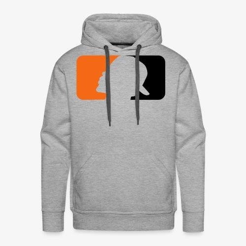 2017 T.A.T.E. Bleed Orange and Black Logo - Men's Premium Hoodie