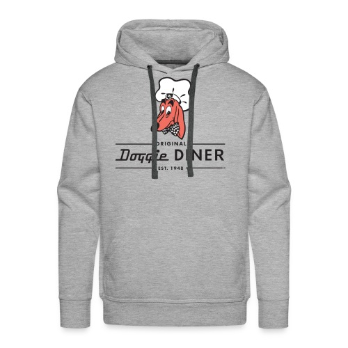 Doggie Diner Logo 1 with NO back color - Men's Premium Hoodie