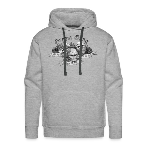 Groom Gang the Evils (BW) - Men's Premium Hoodie