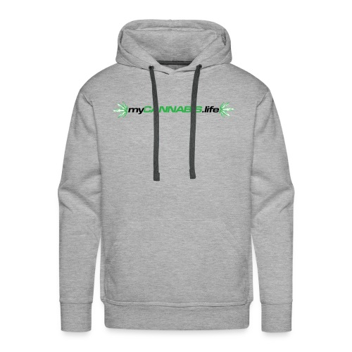 myCANNABIS.life Black Text - Men's Premium Hoodie