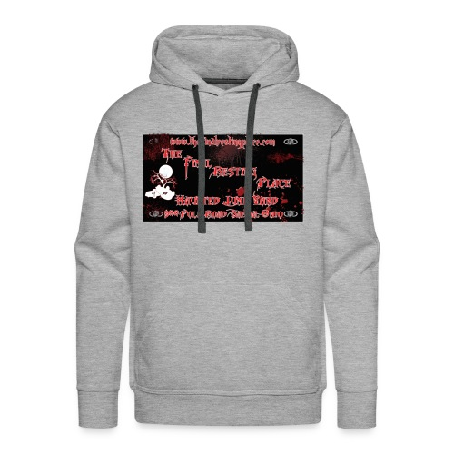 The_Final_Resting_Place_Logo_Address - Men's Premium Hoodie