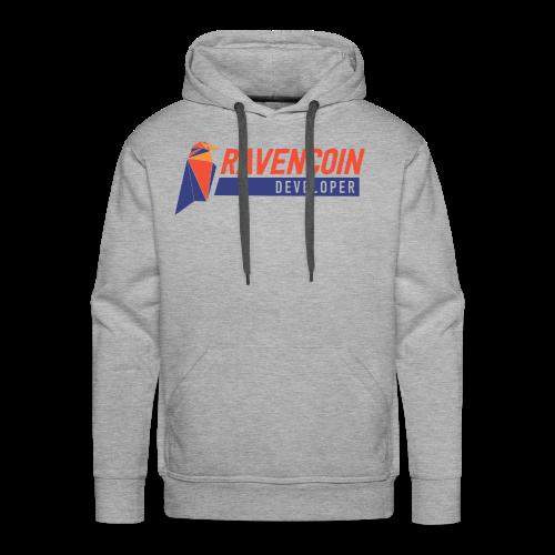 Ravencoin Developer RVN Bird Logo - Men's Premium Hoodie