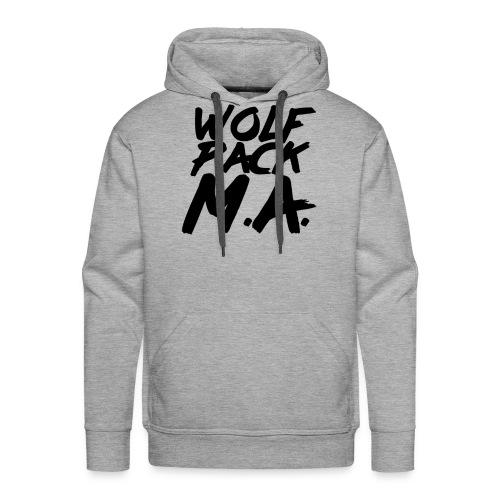 WolfPack M.A. Text Logo - Men's Premium Hoodie