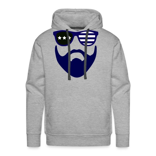 Blue beard-beard gang - Men's Premium Hoodie