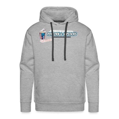 Popcorn and Joysticks Banner - Men's Premium Hoodie