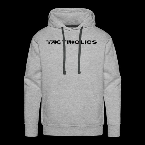 Tactiholics Black Logo - Men's Premium Hoodie