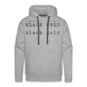 Black Gold Logo (Dark Brown Lettering) - Men's Premium Hoodie