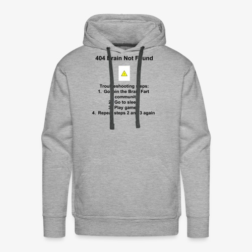404 Brain Not Found - Men's Premium Hoodie