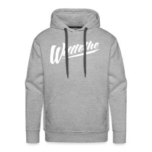 Willtothe Logo White - Men's Premium Hoodie