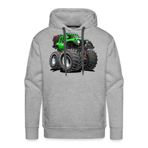 Off road 4x4 gecko green jeeper cartoon - Men's Premium Hoodie