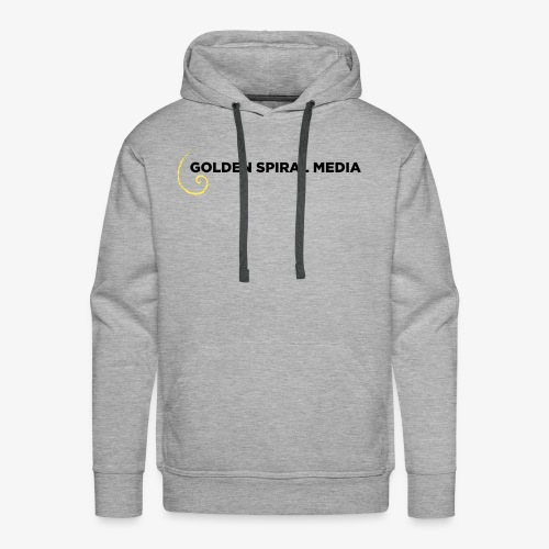Golden Spiral Media Black Logo - Men's Premium Hoodie