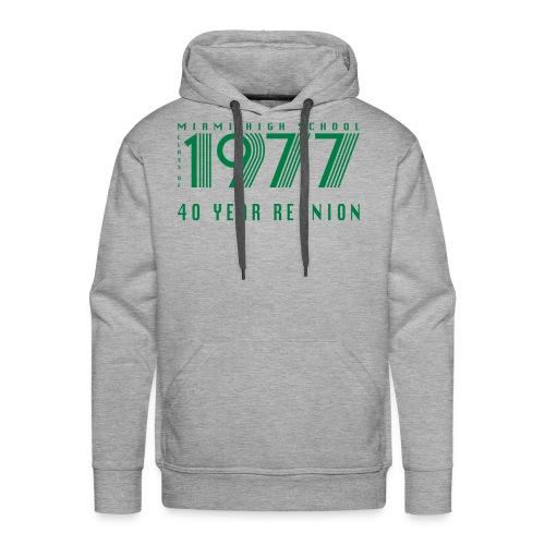 Miami 77 Green Logo - Men's Premium Hoodie