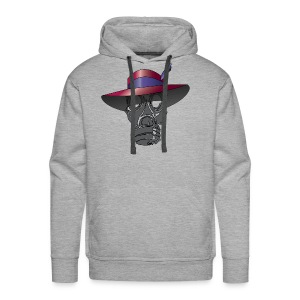 Zoot suit Hat and Gas Mask - Men's Premium Hoodie