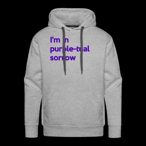 Purple-tual sorrow - Men's Premium Hoodie