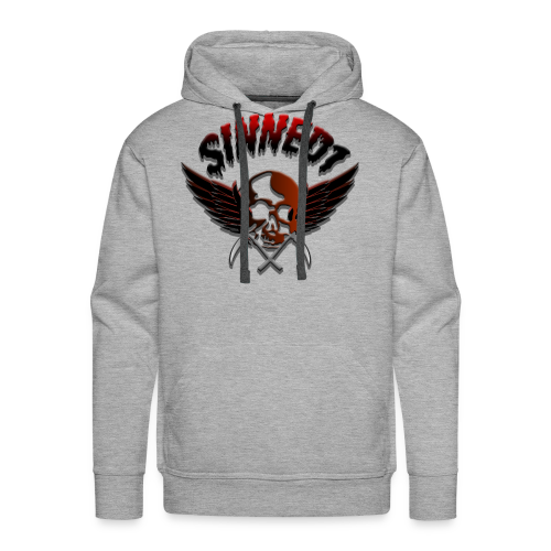 Sinned1 Dripping Text - Men's Premium Hoodie