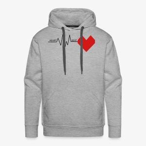 Heart Beat - Men's Premium Hoodie