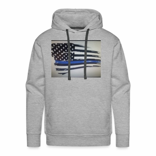 Back the Blue Flag Design - Men's Premium Hoodie