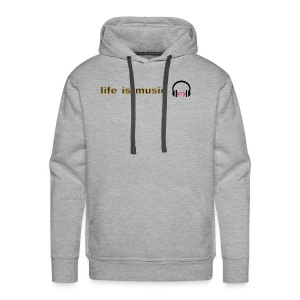 life is music design - Men's Premium Hoodie