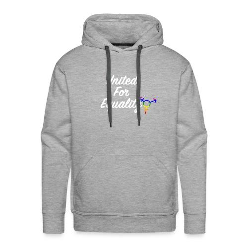White United For Equality Logo - Men's Premium Hoodie