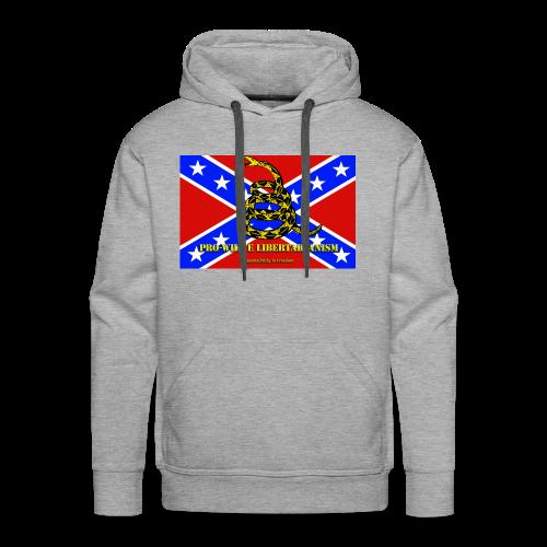 Pro-White Libertarianism Flag - Men's Premium Hoodie