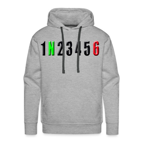 black number horizon - Men's Premium Hoodie