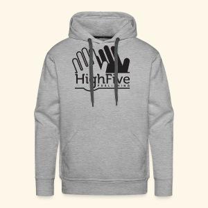 High Five Publishing Logo - black - Men's Premium Hoodie