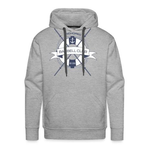 Anchored Barbell Club Blue Logo - Men's Premium Hoodie