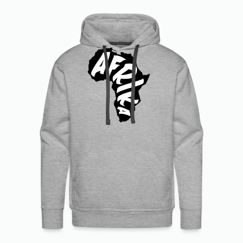 Black Afrika Continent with white word - Men's Premium Hoodie