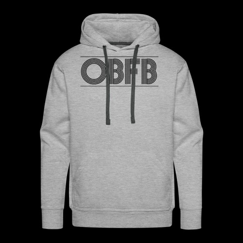 OBFB Bold 'n' Grey - Men's Premium Hoodie