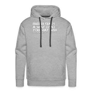 RUN IN SUCH A WAY THAT YOU MAY WIN - Men's Premium Hoodie