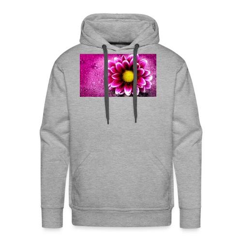pink flower 4k 3840x2 - Men's Premium Hoodie