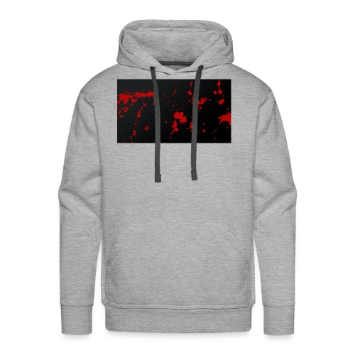 blood splatter background by pudgey77 d4ozy89 - Men's Premium Hoodie