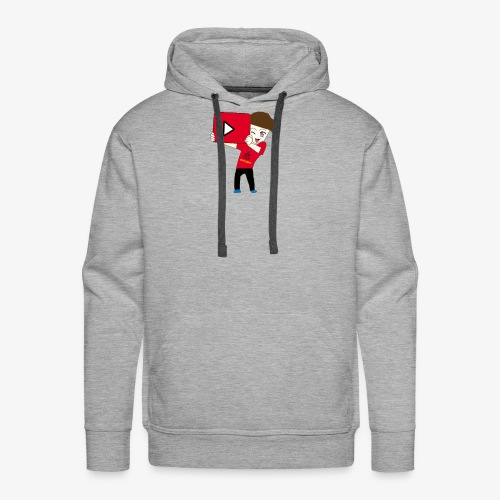 cool avater holding youtube play button - Men's Premium Hoodie