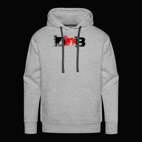 DALEY & BOMBAY LOGO BLACK AND RED - Men's Premium Hoodie
