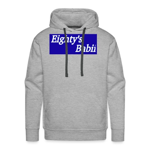 Blueboxlogo80sbabii - Men's Premium Hoodie