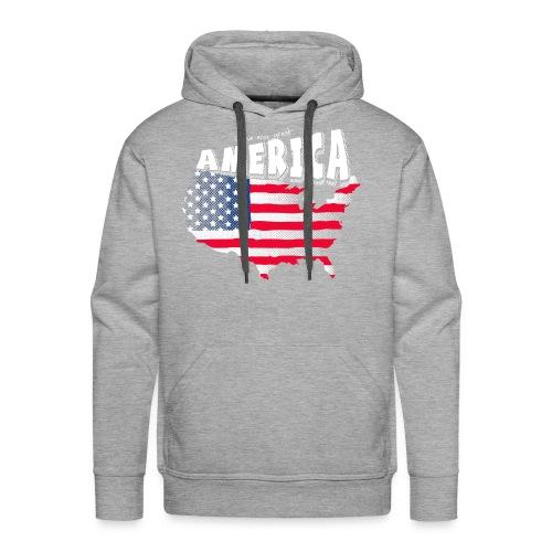 i love my graet america - Men's Premium Hoodie
