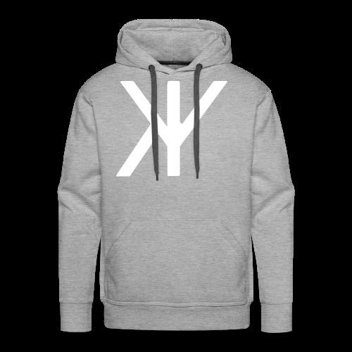 Classic Logo [White Variant] - Men's Premium Hoodie