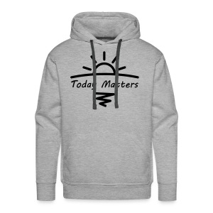 Today Matters Logo - Black - Men's Premium Hoodie