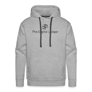 The Digital Ledger logo Black - Men's Premium Hoodie