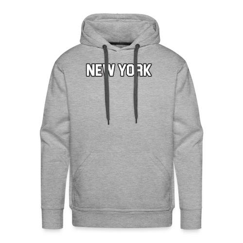 New York Yankee - White - Men's Premium Hoodie