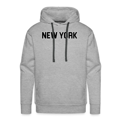 New York Yankee - Black - Men's Premium Hoodie