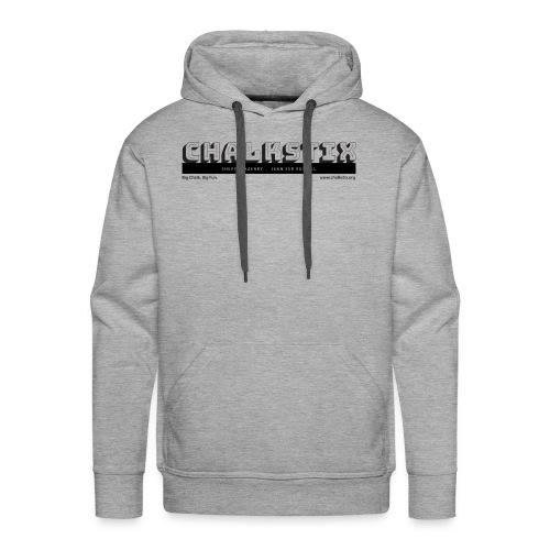 chalkstix logo BLACK - Men's Premium Hoodie