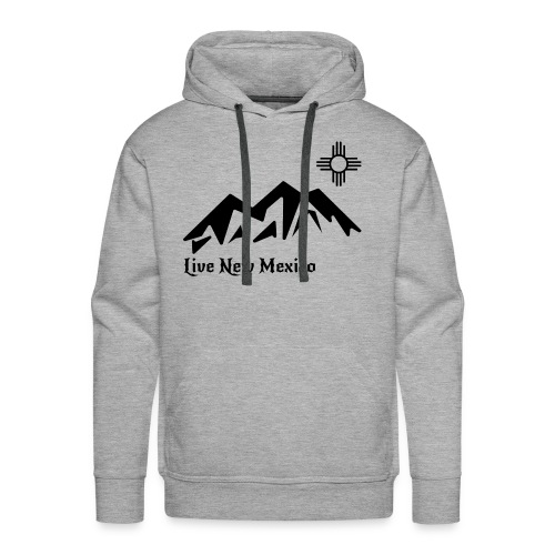 Live New Mexico logo - Men's Premium Hoodie